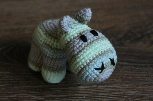 Häkelanleitung Baby Hippo