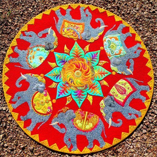 The Last Marigold elephant quilt PDF pattern at Makerist - Image 1