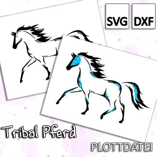 Tribal Pferd - Plottdatei bei Makerist - Bild 1