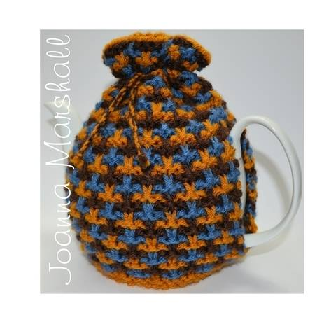 Oxford Textured Tweed Tea Cozy at Makerist