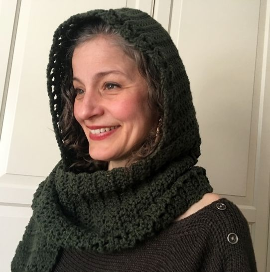 Crochet Scoodie Pattern (Heading-Out Hooded Scarf) at Makerist - Image 1