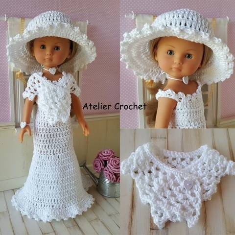 """Bride"" crochet pattern for Chérie Corolle at Makerist"