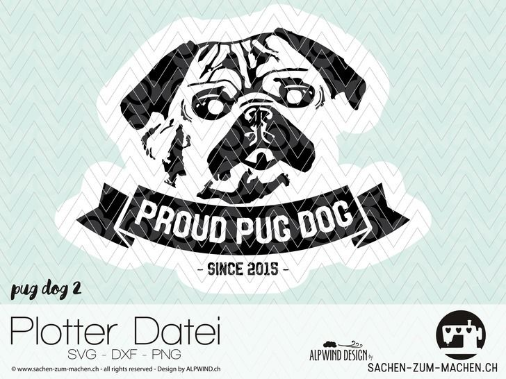 "cutting file ""pug dog #2""  - ALPWIND ® at Makerist - Image 1"