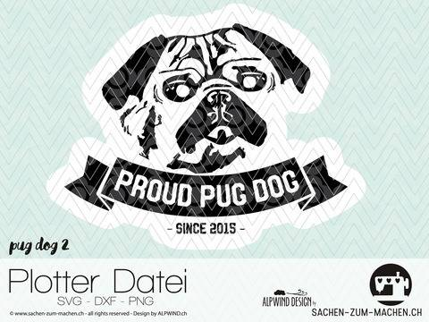 "cutting file ""pug dog #2""  - ALPWIND ® at Makerist"