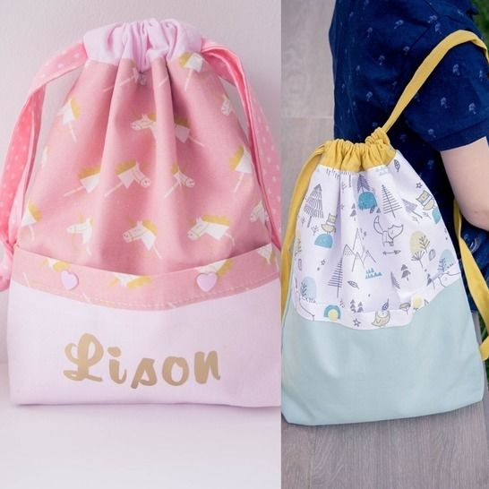 le modèle Lison (pochons + sac à dos enfant) chez Makerist - Image 1