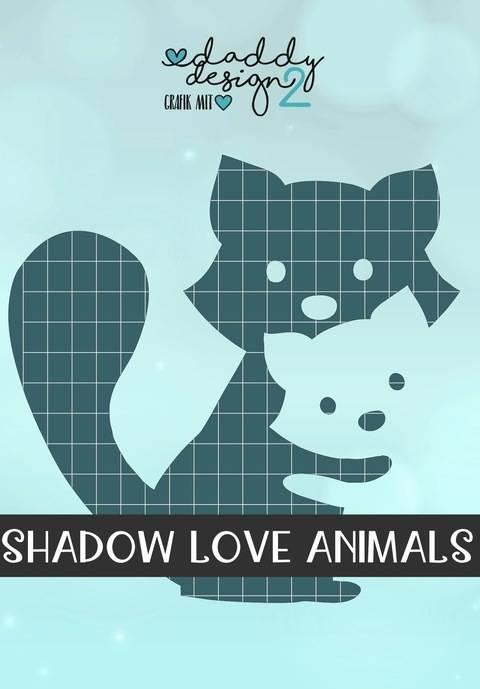 WASCHBAER LIEBE - Shadow-Love-Animals - Illusions-Plottdatei