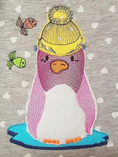 Leopold Pinguin Stickdatei 6 Größen bei Makerist - Bild 1