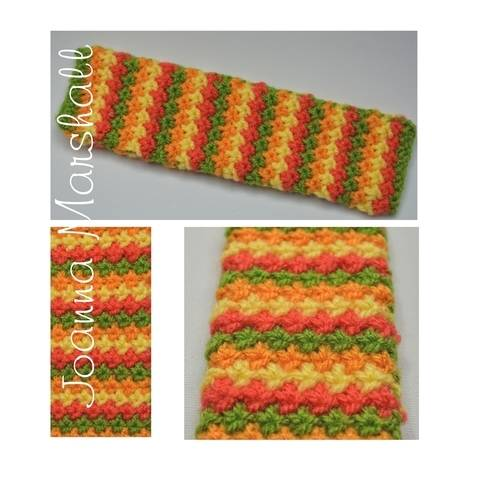 May Flowers Knot Stitch Knitted Bookmark at Makerist