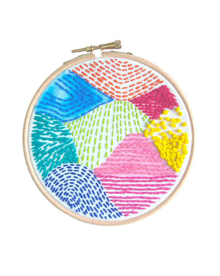 Geometric Beginners Embroidery Sampler Pattern at Makerist - Image 1