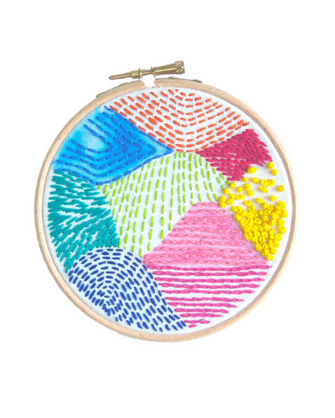 Geometric Beginners Embroidery Sampler Pattern at Makerist