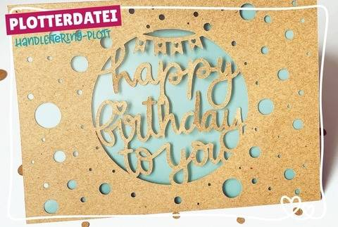 "Geburtstagskarte ""happy birthday"" 