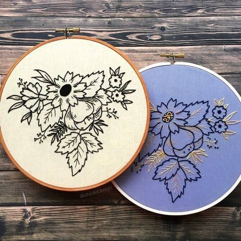 Spring Wildflowers Hand Embroidery Pattern at Makerist