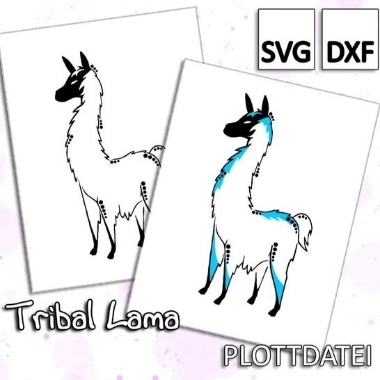 Tribal Lama - Plottdatei bei Makerist - Bild 1