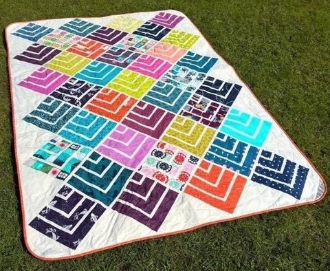 Jelly On Point - Nähanleitung Quilt Patchwork Decke