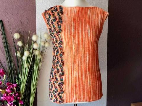 Shirt Mandarin Stripes Strickanleitung bei Makerist