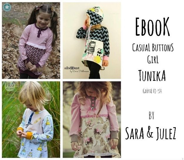 Ebook Knopfleisten-Tunika Casual Buttons *GIRL Gr. 68-164 bei Makerist - Bild 1