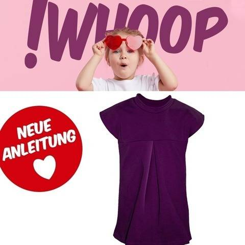 !WHOOP KIDS NO 71 SHIRT SCHNITTMUSTER&ANLEITUNG GR. 86-128