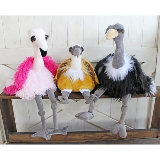 Pudgy Plumes Ostrich, Vulture and Flamingo Soft Toys at Makerist - Image 1