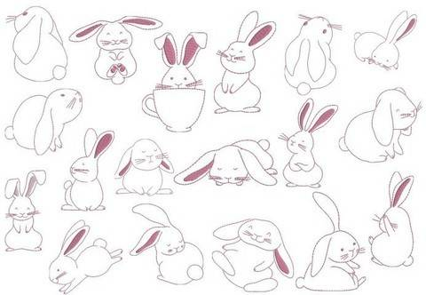 Stickdatei - Funny Bunnies in PES