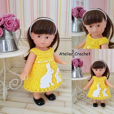 """Miss Lapin"" ensemble crochet poupée Mini Corolline chez Makerist"