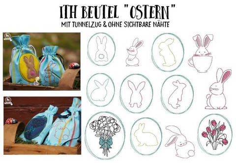 ITH Stickserie - Beutel Ostern in PES