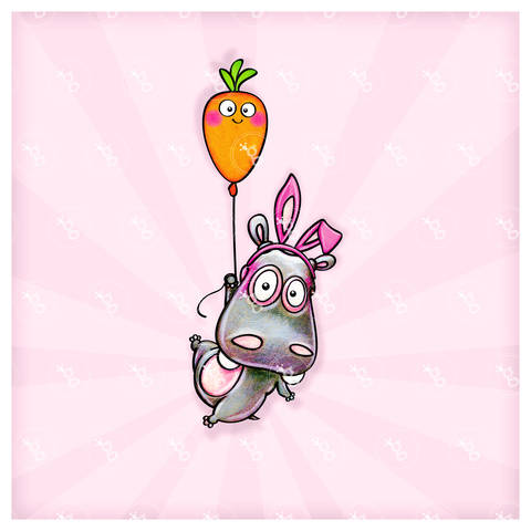 "digi stamp ""easter hippo"" bei Makerist"