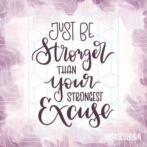 Plotterdatei 'Be Stronger' bei Makerist