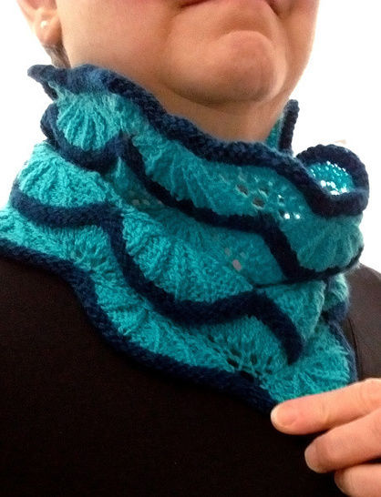 Lace Cowl Clarion PDF knitting pattern  at Makerist - Image 1