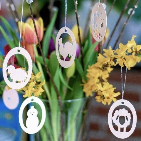Plotterdatei-Set Ostereier Frühling 2 mit 5 Motiven