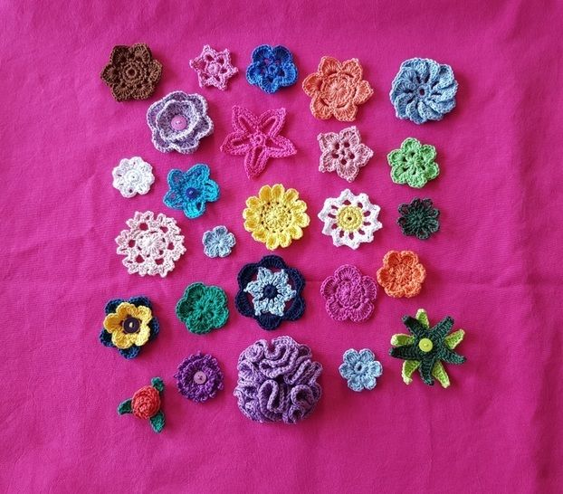 Crocheted Flowers at Makerist - Image 1