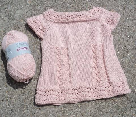 Top manches courtes Mathilde enfant - explications tricot