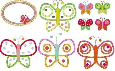 Schmetterling mit Punkten Stickdatei bei Makerist