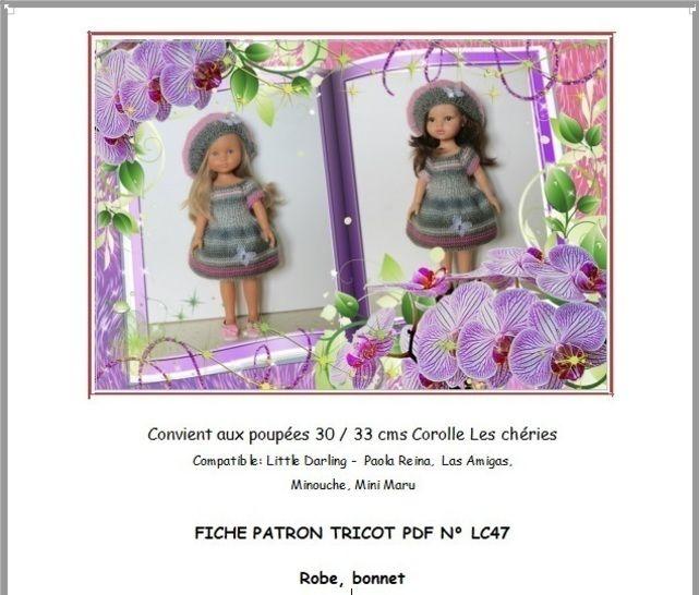 Fiche patron tricot N° LC47 Poupée Les Chéries Paola Reina chez Makerist - Image 1