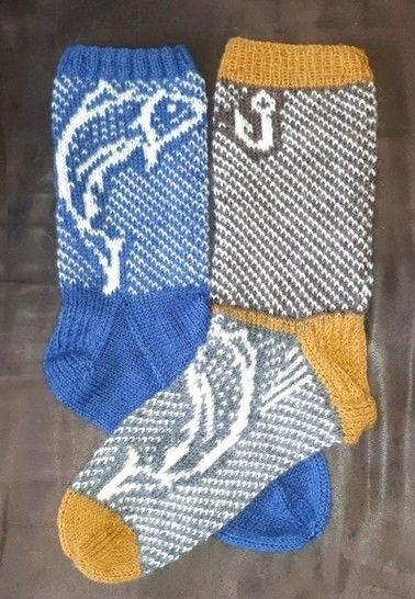 Le saumon - 1 modèle de chaussette en tricot - 2 versions chez Makerist - Image 1