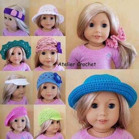 """Headwear"" crochet pattern for American Girl"