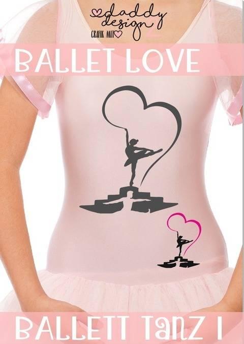 BALLETT LOVE - Ballett-Liebe-Tanz- Schattenmotiv