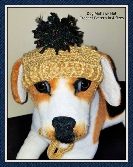 Dog Mohawk Hat Crochet Pattern  in 4 sizes at Makerist - Image 1