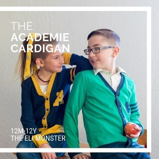 The Academie Cardigan Sewing Pattern, Sized 12m-12y at Makerist - Image 1