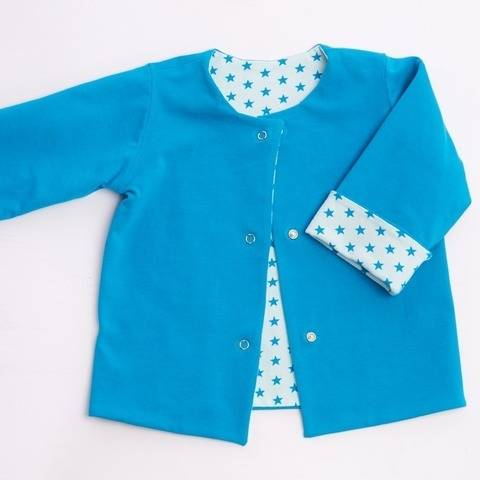 FLAVIO Lined Baby and Kids Jacket Pattern, reversible