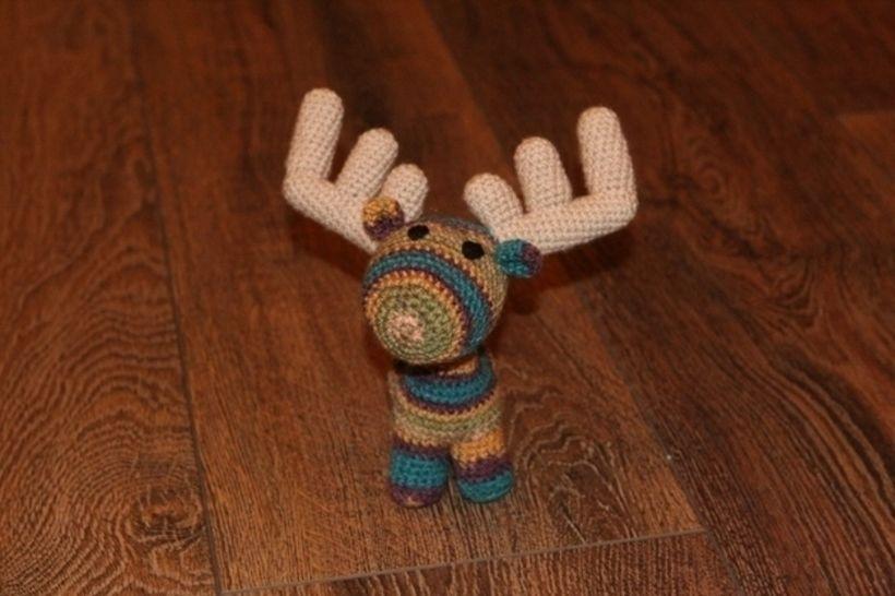 Häkelanleitung Freddy, der Elch bei Makerist - Bild 1