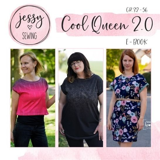 *Cool Queen 2.0* Shirt, Longshirt, Kleid Gr. 32 bis 56  bei Makerist - Bild 1