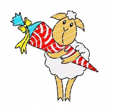 Einschulung: Das Schaf kommt in die Schule bei Makerist