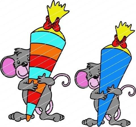 Einschulung: Die Maus kommt in die Schule bei Makerist