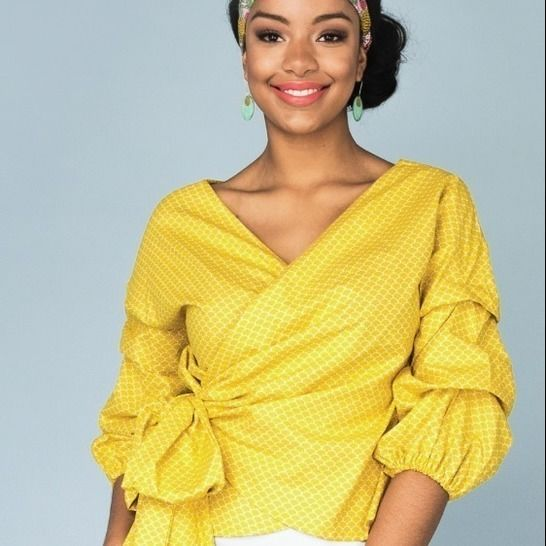 Screwdriver // Women's Wrap Top with Dramatic Sleeve at Makerist - Image 1