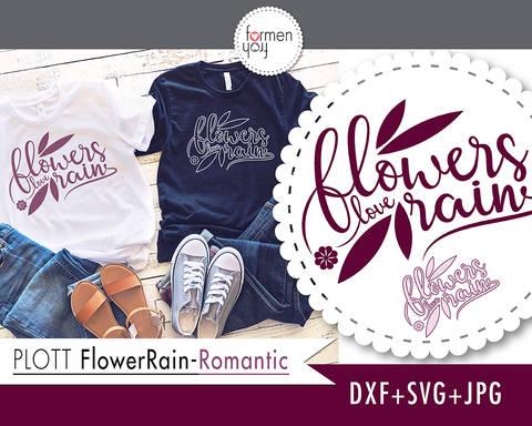 FlowerRain-Romantic - Plotterdatei formenfroh - dxf+svg+jpg