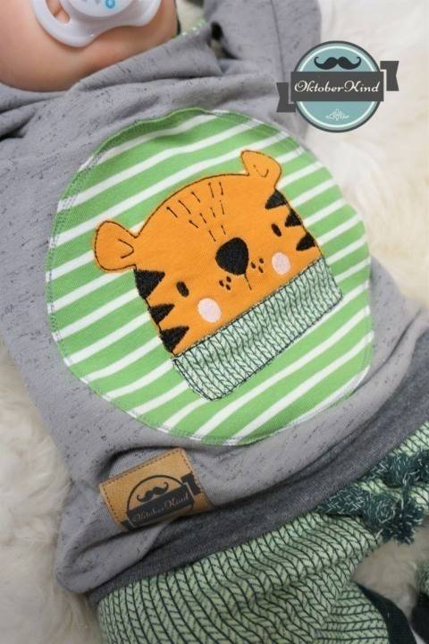 Stickdatei Scandi-Look Tiger 18x30 bei Makerist