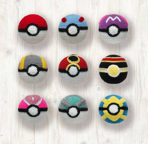 Pokemon Balls Crochet Pattern
