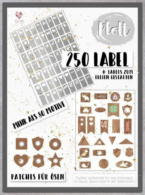 Plottdesign - Label Love Mega Set -  mehr als 250 Label bei Makerist