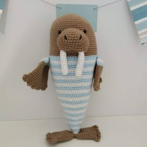 Amigurumi –  Walter the walrus - crochet – tutorial