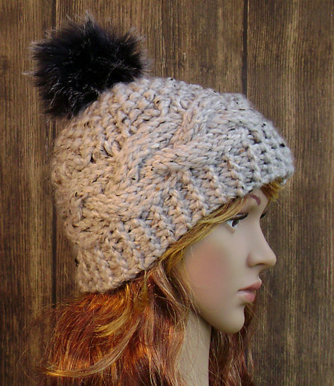 Cable Banded Beanie - Knit Pattern - Women's  at Makerist - Image 1